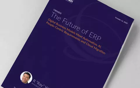 """Cover image for Constellation Research report - """"The future of ERP"""""""