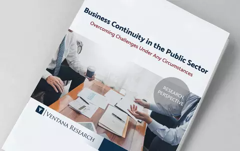 Thumbnail image of Ventana Research paper on Public Sector Business Continuity