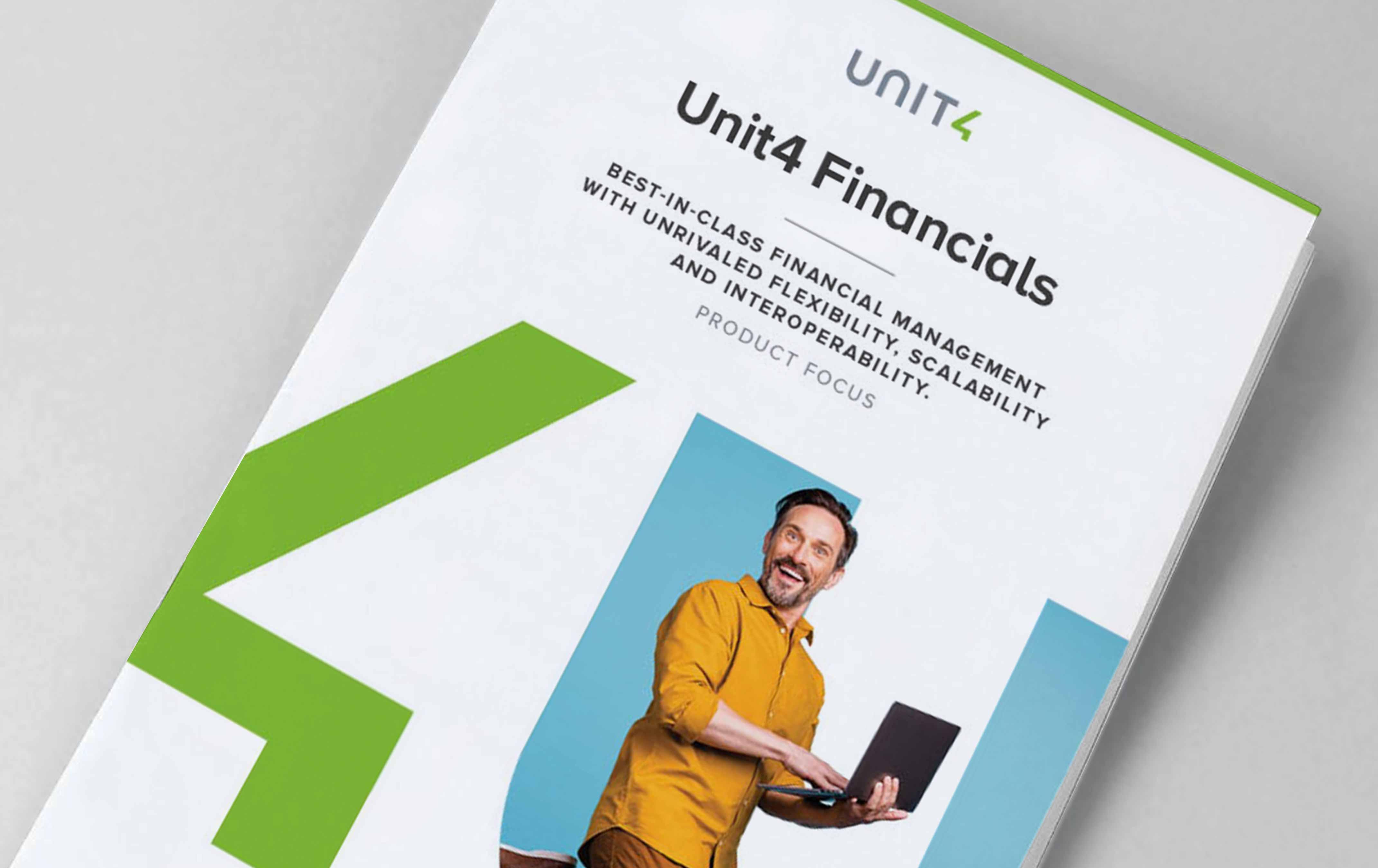Cover of Unit4 Financials brochure